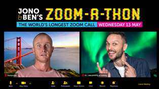 ZOOM-A-THON: Jono and Ben complete the world's longest Zoom call