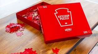 Heinz Ketchup just released an impossible puzzle that's entirely red to cure isolation boredom
