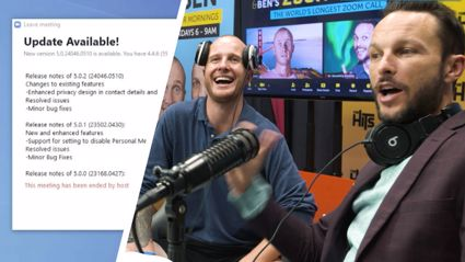 The hilarious moment Jono and Ben broke Zoom after Zooming for almost 24 hours!