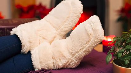It turns out microwave slippers exist and are perfect for cold feet this winter