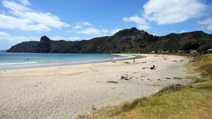 Taupō Bay is a popular surfing and family holiday destination, just north of the entrance to Whangaroa Harbour in Northland.
