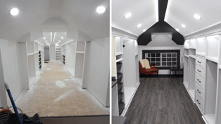 Man transforms his attic into the walk-in wardrobe of his wife's dreams