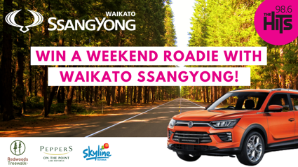 WIN a Weekend Roadie with Waikato Ssangyong!
