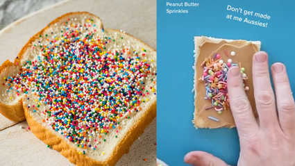 This fairy bread recipe involves peanut butter and people are not happy about it!