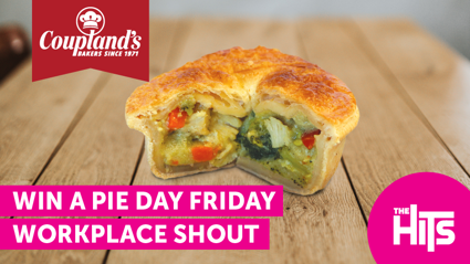 Win a Coupland's PieDay Friday Workplace Shout!