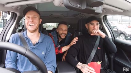 Jono and Ben take Stan Walker on a 'Ridepool-Sing-Along' (NOT Carpool Karaoke) in Mike's Hosking's car