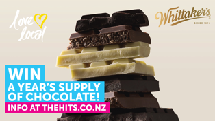 WIN A Year's Supply of Whittaker's