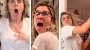 This husband has been scaring his wife since 2014 and her hilarious reactions have gone viral