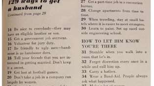 Hilarious advice from 1950s list on how to 'get a husband' goes viral