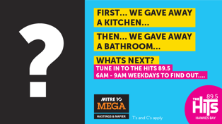 What's our next big giveaway?! All thanks to Mitre 10 Mega Napier & Hastings!