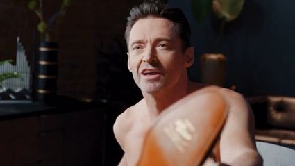 Hugh Jackman leaves people blushing after he strips naked for Aussie footwear advert
