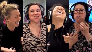 Laura challenges Estelle, Stace and Anika to a hilarious game of Chubby Bunny