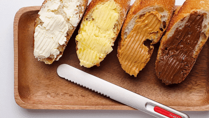This bread knife uses heat technology to make spreading butter easier than ever