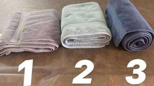 Woman sparks heated debate over the correct way to fold towels - which number are you?