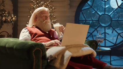 John Travolta stars as Santa Claus in new Pulp Fiction-themed advert with Samuel L. Jackson