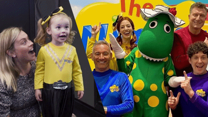 The Wiggles surprise Laura and Estelle's daughters with a Zoom sing-a-long
