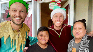 Jono and Ben surprise Kiwi kid Elijah with Zoom call from Santa and an awesome gift