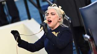 Lady Gaga wows with US anthem performance at Joe Biden's inauguration