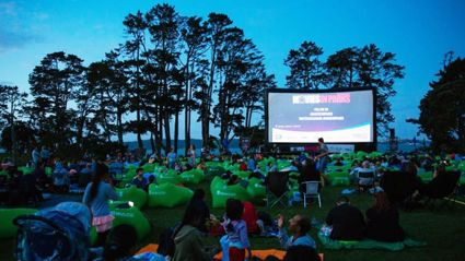 You can watch movies in the park from today and it's absolutely free!
