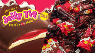 In case you haven't heard, Griffin's limited edition Jelly Tip ice-cream biscuits are back