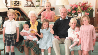 Royal family release previously unseen photos of Prince Philip surrounded by great-grandchildren