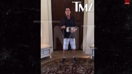 Charlie Sheen does the 'Ice Challenge'... With a difference!